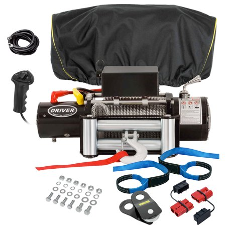 Electric Winch Combo Set - LD12-PRO Winch with Premium Accessory Package 12,000 lbs. Capacity - by Driver Recovery Products