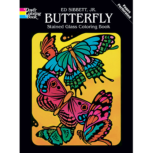dover publications stained glass coloring books butterfly