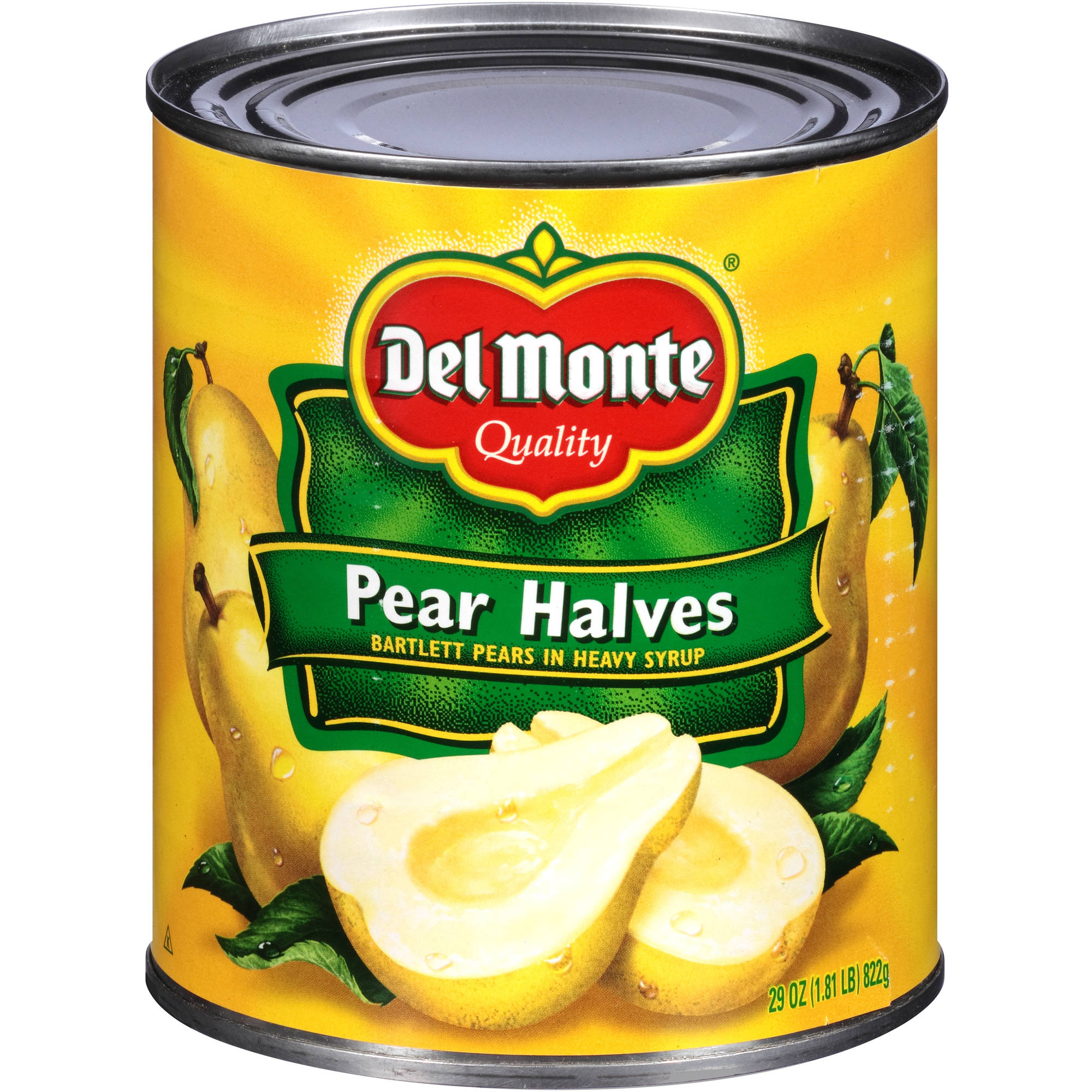 Del Monte: Bartlett In Heavy Syrup Pear Halves, 29 Oz