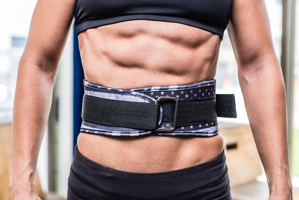 Strength Training Equipment Unbroken Designs Star and Stripe Velcro Weight Lifting Belt for Men and Women Lower Back Support and Body Building Belt