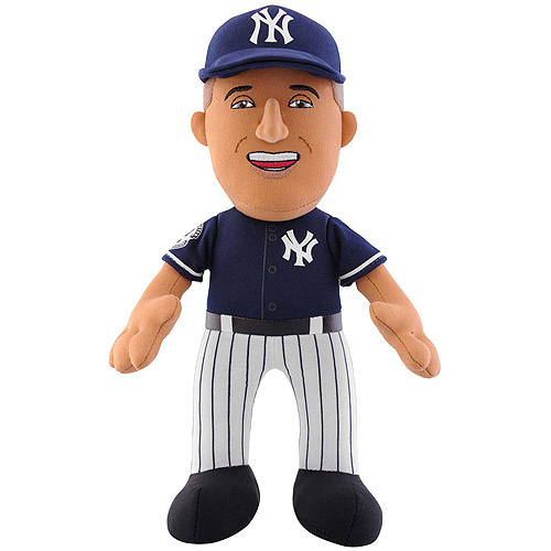 "MLB Player 10"" Plush Doll New York Yankees, Derek Jeter BP Jersey with Retirement Patch"
