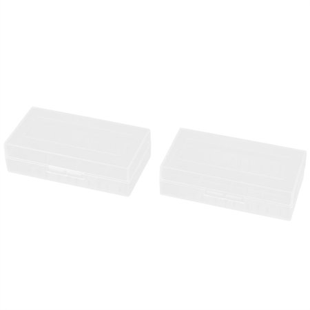 2pcs Clear Plastic Rectangle Storage Box Container Holder for 2 x 18650 Battery](Clear Plastic Boxes)