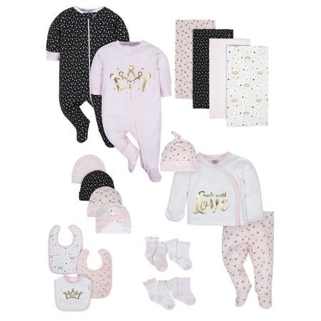 Gerber Organic Cotton Baby Shower Layette Gift Set, 20 pc (Baby (Cotton Layette Set)