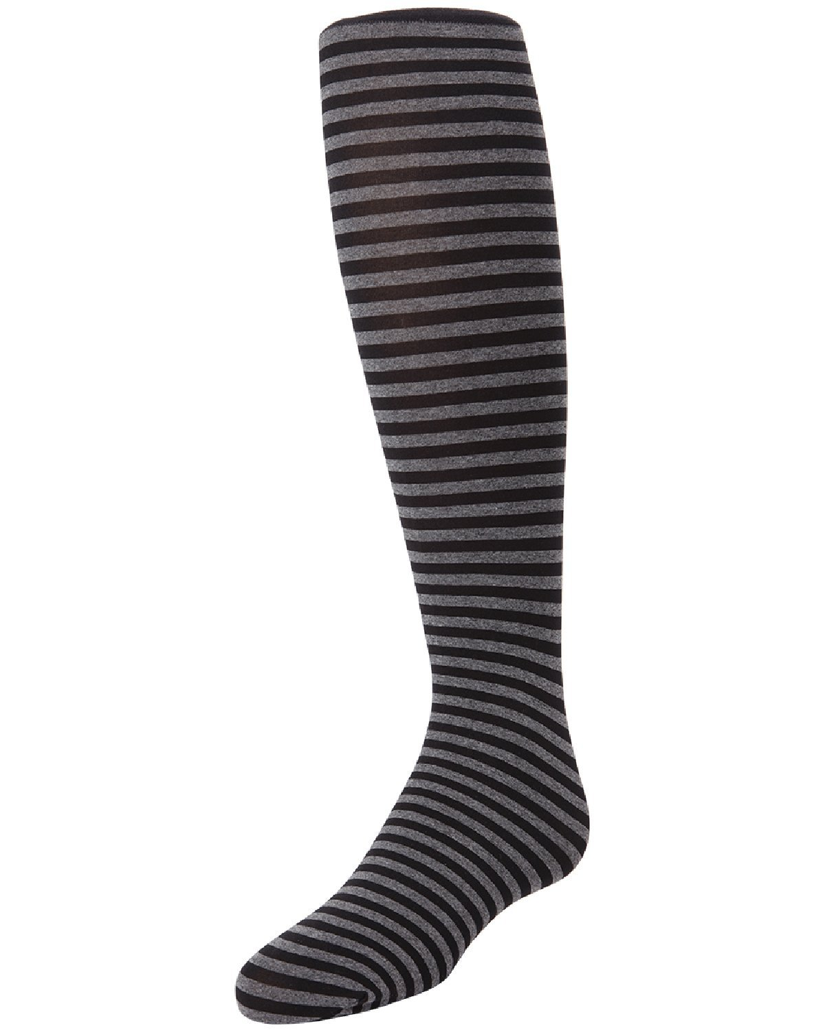 MeMoi Rows On Rows Girls Striped Tights | Girls Heathered Tights by MeMoi 12-Oct / Black MK 746