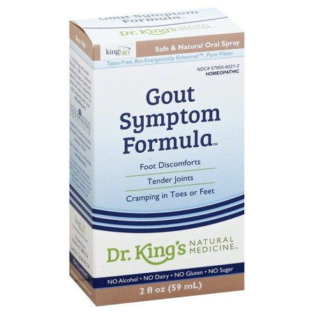 King Bio Homeopathic Gout Symptom Reliever   2Ounce