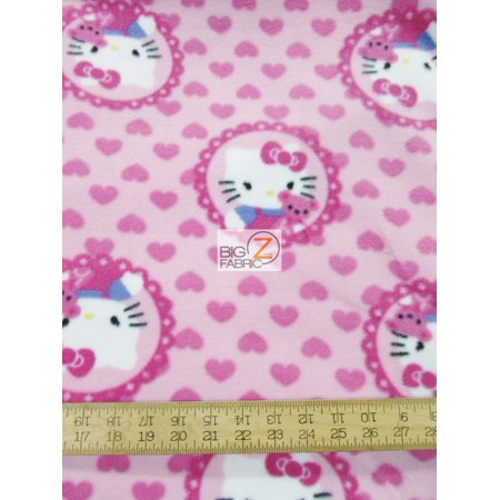 Fleece Printed Fabric / Hello Kitty & Teddy Medallions By Springs Creative / Sold By The Yard