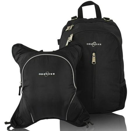 sale obersee rio diaper bag backpack with detachable cooler black black go diaper bag navy. Black Bedroom Furniture Sets. Home Design Ideas