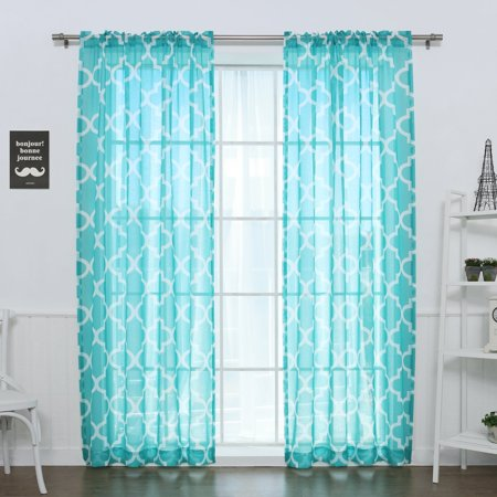 Best Home Fashion Sheer Moroccan Single Curtain (Best States For Black Singles)