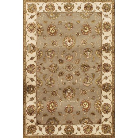 Agra Design Rug - Pasargad Home Agra Collection Hand Knotted Silk and Wool Area Rug