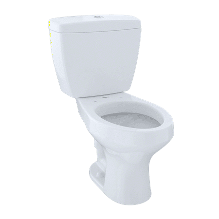 TOTO® Rowan™ Two-Piece Elongated Dual-Max®, Dual Flush 1.6 and 1.0 GPF Universal Height Toilet, Cotton White -