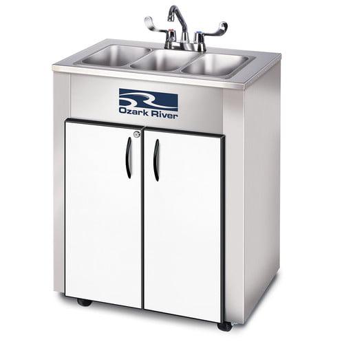 Ozark River Portable Sinks Elite Series 26'' x 18'' Portable Handwash Station with Faucet