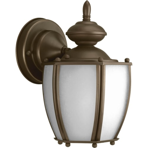 """Progress Lighting P5766 Roman Coach 1 Light 10"""" Tall Outdoor Wall Sconce with Clear Seeded Glass Panels"""