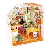 DIY 3D Wooden Puzzle House Kitchen Handmade Home Miniature Jason's LED Light