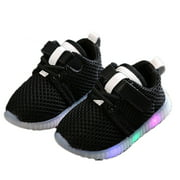 Newborn Toddler Baby Boys Girls Kids Lumino Sneakers Light Up Shoes LED Shoes