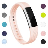 For Fitbit Alta / Alta HR Bands Adjustable Replacement Wrist Bands Soft TPU Material Strap Without Tracker (Black, Small)