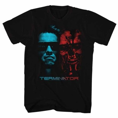 terminator movies face off adult short sleeve t shirt (Terminator Costumes For Adults)