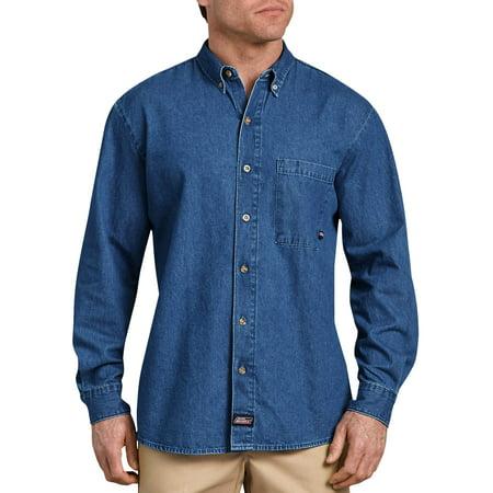 Men's Long Sleeve Button Down Denim Shirt