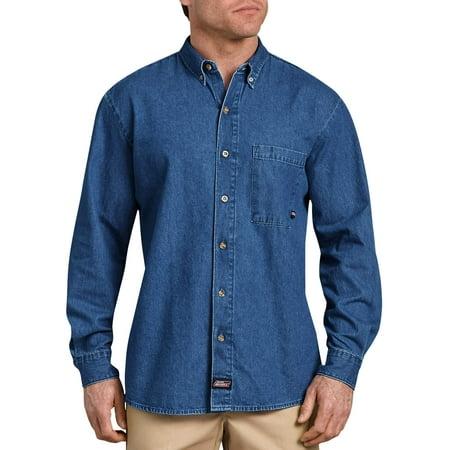 Men's Long Sleeve Button Down Denim Shirt Carhartt Button Down Work Shirt