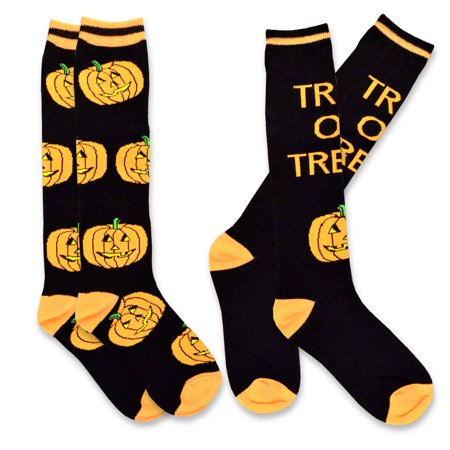 TeeHee Novelty Halloween Fun Knee High Socks for Women 2-Pack - Halloween Socks