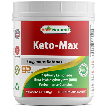 Best Naturals Keto BHB Salts Supplement with goBHB - Beta Hydroxybutyrate Exogenous Ketones 7.9 OZ - Raspberry Lemonade