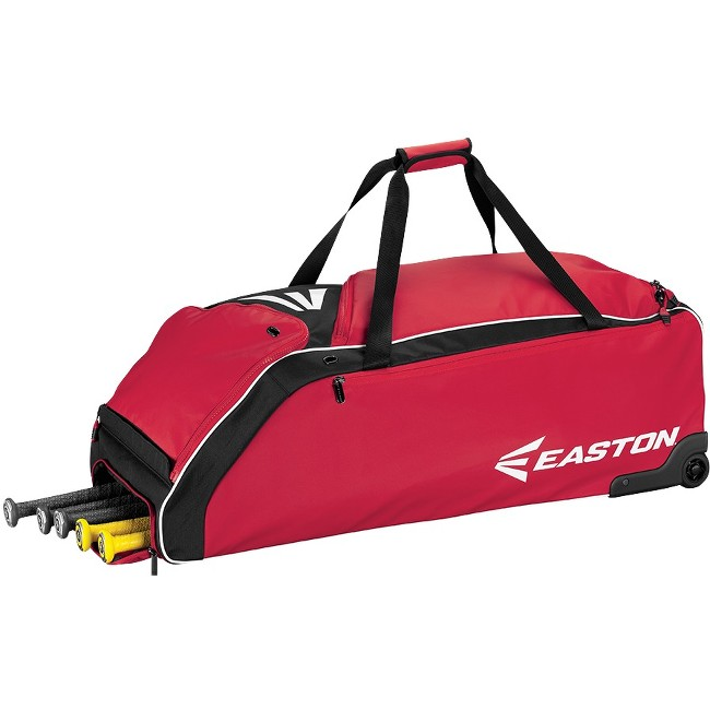 Easton E610W Red Wheeled Baseball Bat Bag A159032RD