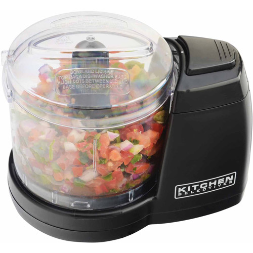 Kitchen Selectives Mini Chopper, Black, Black