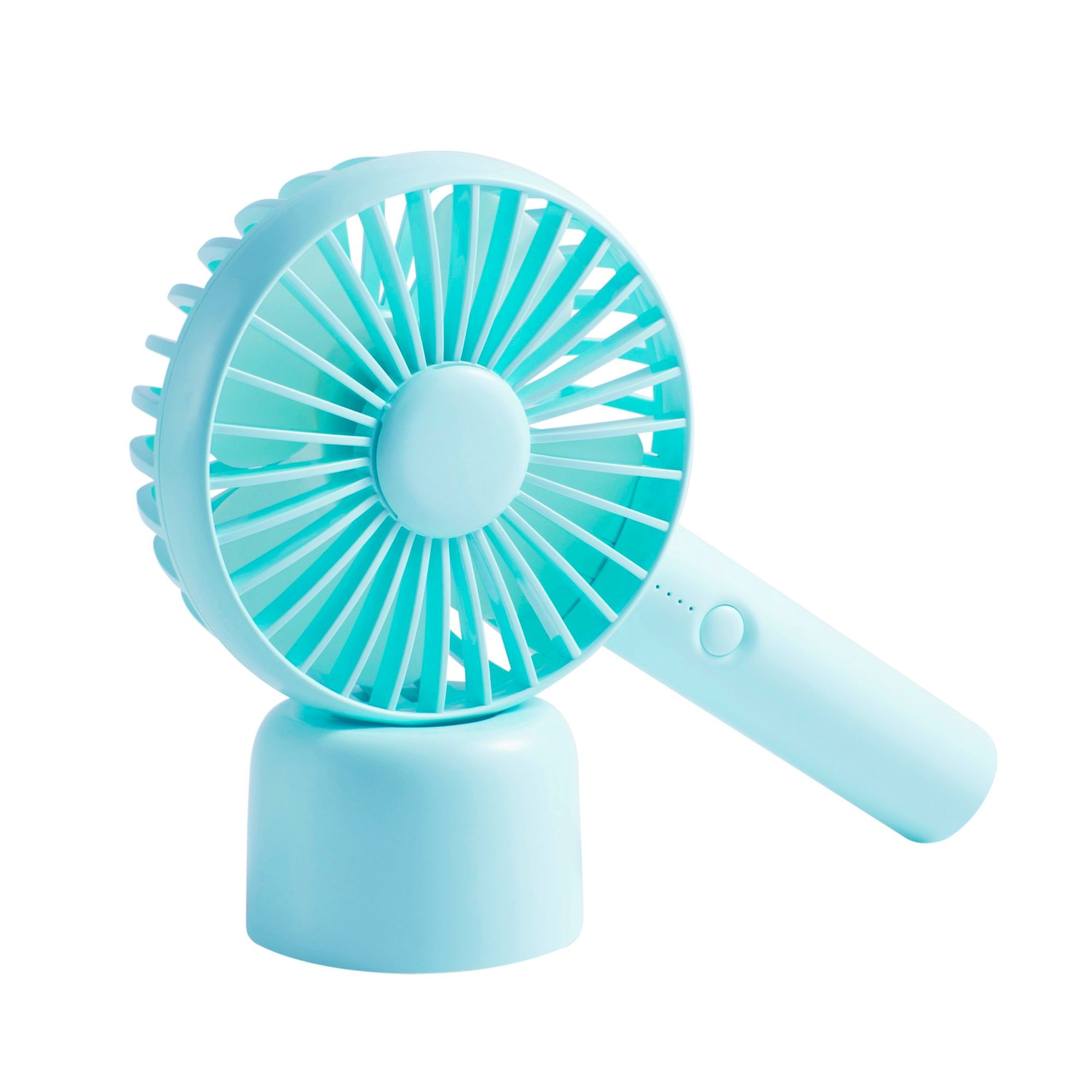 Office ChYoung Mini Handheld Fan with LED Light Outdoors and Travel Portable USB Rechargeable Battery Operated Desk Fan with Removable Stand Base for Home