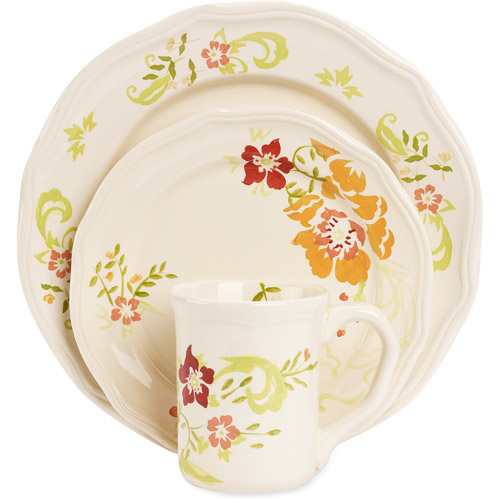 Better Homes And Gardens Citrus Blossoms 16 Piece Dinnerware Set