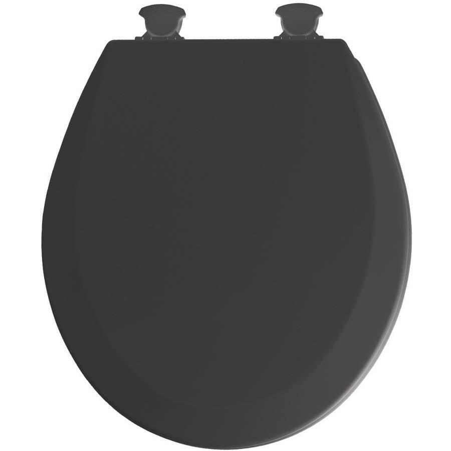 Mayfair Black EZ Clean Round Toilet Seat Walmartcom