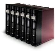 Bellagio-Italia DVD Storage Binders - 6 Pack Burgundy