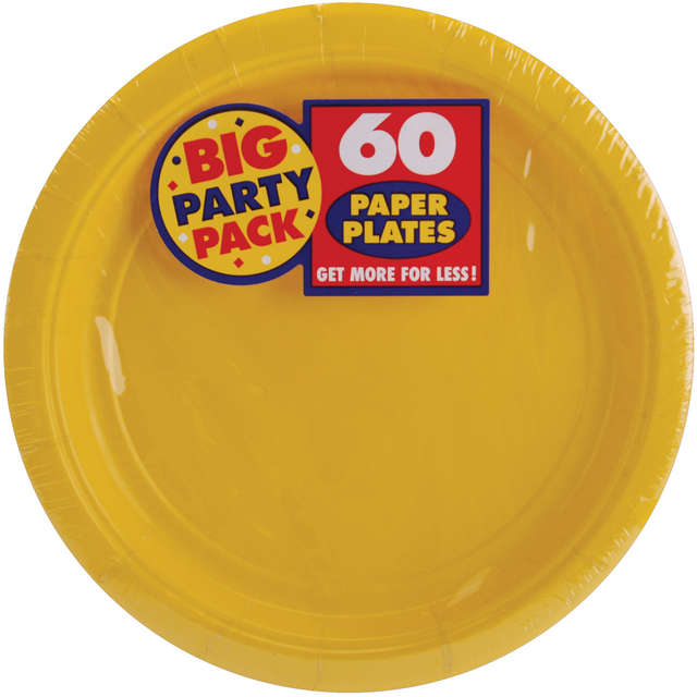 "Big Party Pack Luncheon Plates 7"" 50/Pkg-Sunshine Yellow"