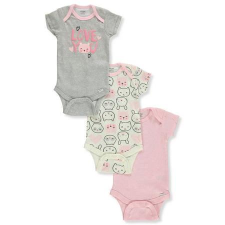 Onesies Baby Girls' 3-Pack Bodysuits - Cute Womens Onesie