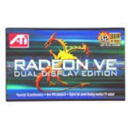 ati technologies inc. 100-430119 radeon ve dual display (vga & dvi) 32mb agp graphics card