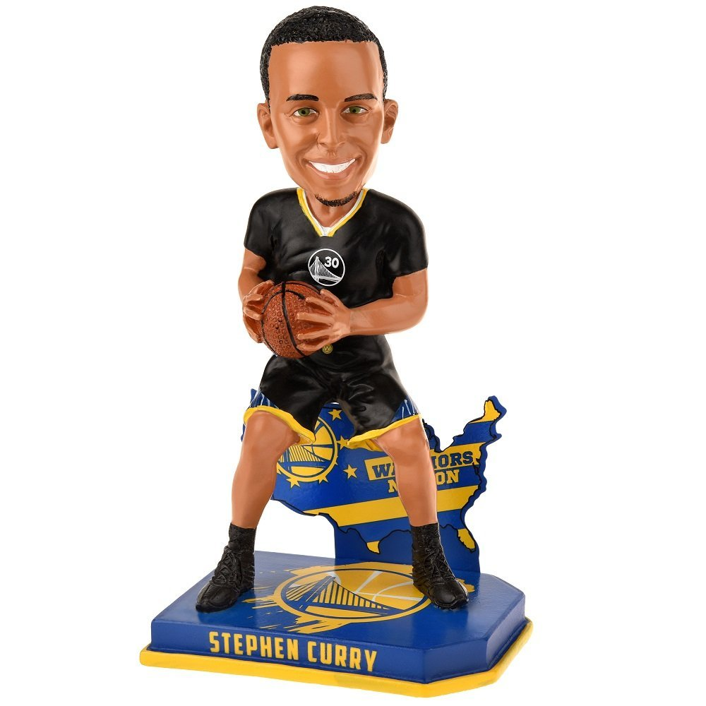Golden State Warriors Steph Curry Alternate #30 Nation Bobblehead