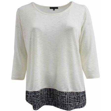 - BNY Corner Women Plus Size Round Neck Sweater Knit Top Tee Blouse Shirt Snow 3X 160.36 BNY Corner
