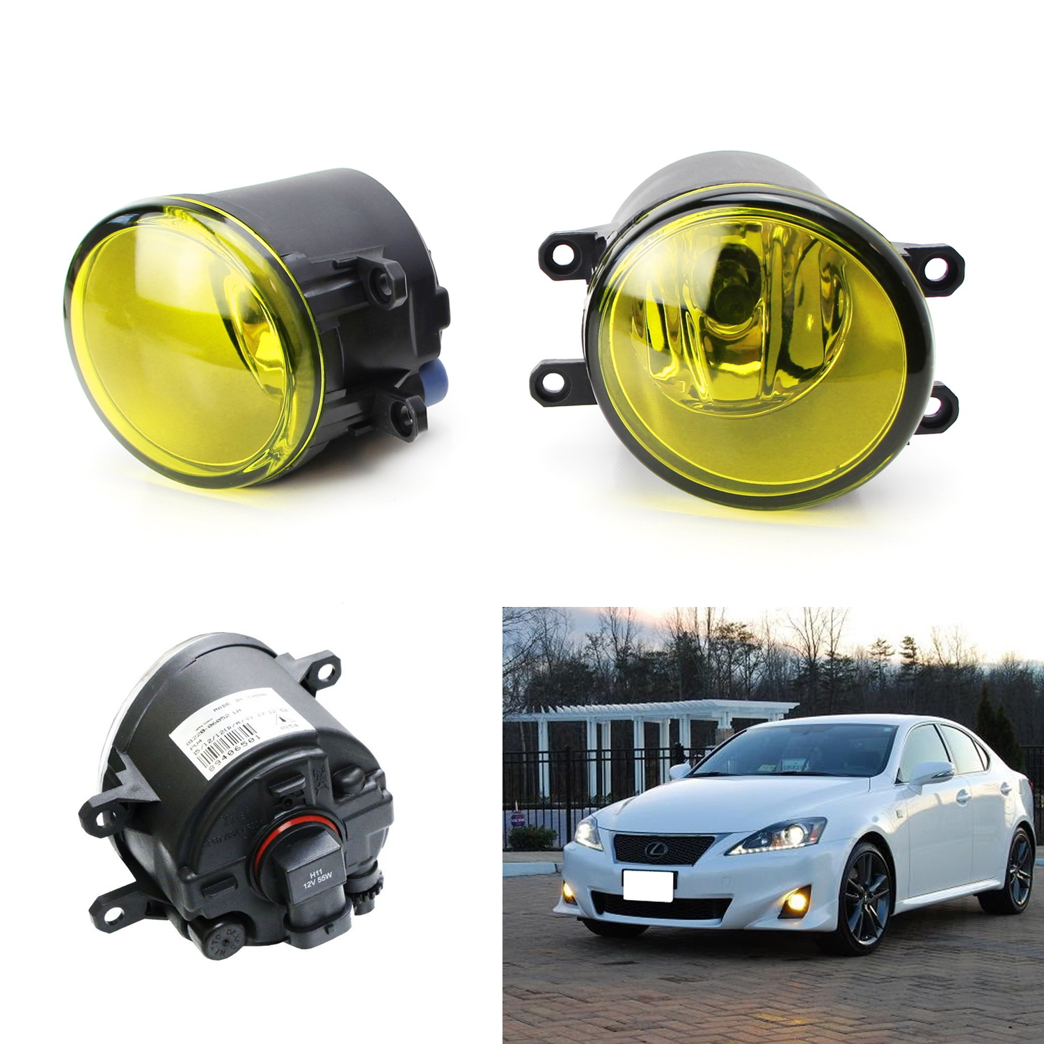 Passenger and Driver Side Led Fog Lamps Compatible with Lexus GS IS LX RX ES CT LED Fog Lights Compatible with Toyota Camry Highlander Corolla Prius 2PCS