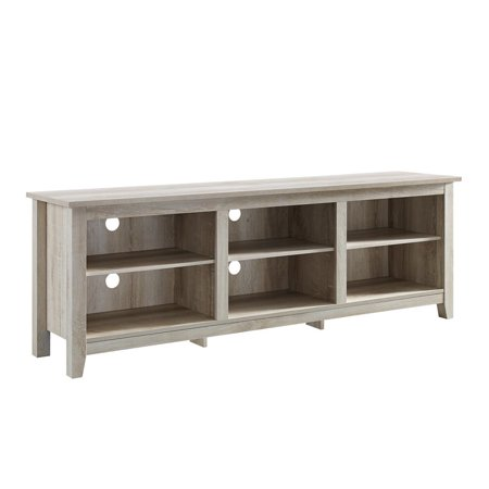70 wood media tv stand storage console white oak. Black Bedroom Furniture Sets. Home Design Ideas