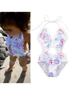4a3df6aac2 Product Image Urkutoba Toddler Kids Girl Floral Tankini Split Swimwear  Swimsuit Bathing Suit Summer