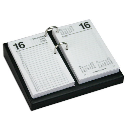 Dacasso Leather Desktop Calendar Holder