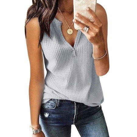Summer Women V Neck Off Shoulder Solid Color Plus Size Loose Casual