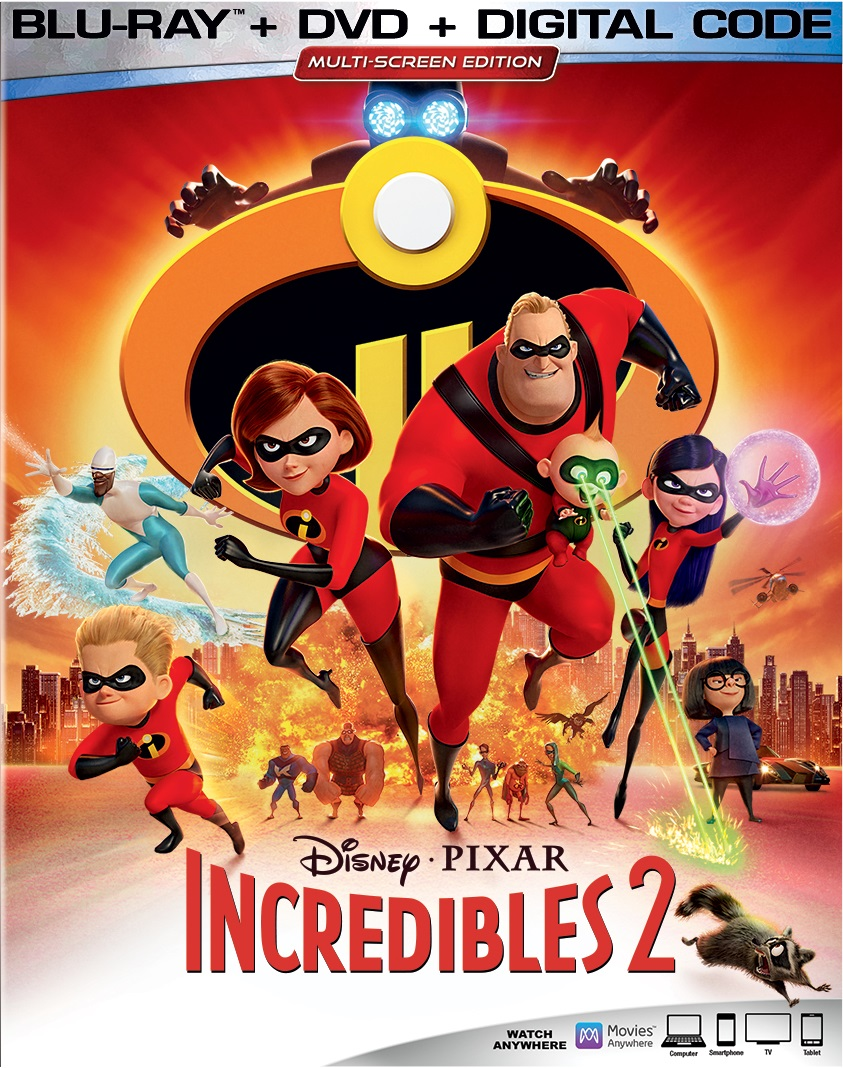 Incredibles 2 (Blu-ray + DVD + Digital)