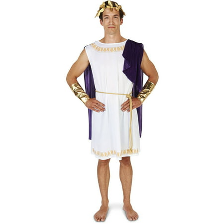 White Short Toga Men's Men's Adult Halloween Costume (Halloween Short Quotes)