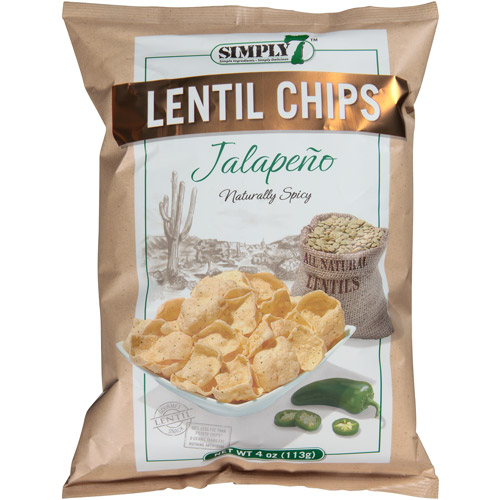 Simply 7 Jalapeno Lentil Chips, 4 oz, (Pack of 12)