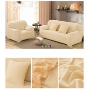 Home Full stretch Lightweight Slip Resistant sofa covers sofa couch Elastic Protector for many 1-4 seat Sofas (Beige,3Seat)