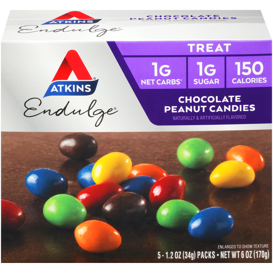 Atkins Endulge Chocolate Peanut Candies, 1.2 Oz, 5 Ct