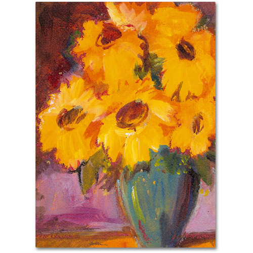 "Trademark Fine Art ""Sunflower #5"" Canvas Wall Art by Sheila Golden"