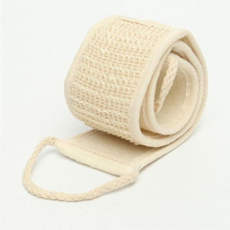 Exfoliating Back Scrubber Bath Shower Strap Loofah Spa Skin Brush Sponge Body Skin