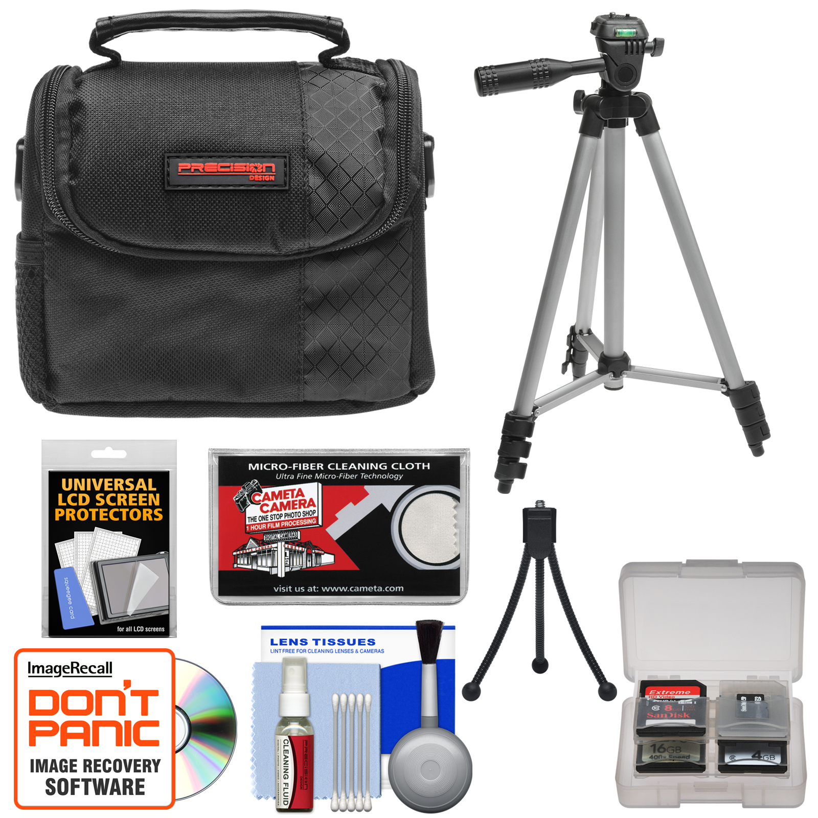 Kodak EasyShare Digital Cameras Accessory Kit with Camera Case & Tripod for C142, C143, C183, C195, M522, M532, M552, M583, M590, MAX, MINI, SPORT & TOUCH Cameras