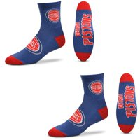 Detroit Pistons Women's Quarter-Length Socks Two-Pack Set
