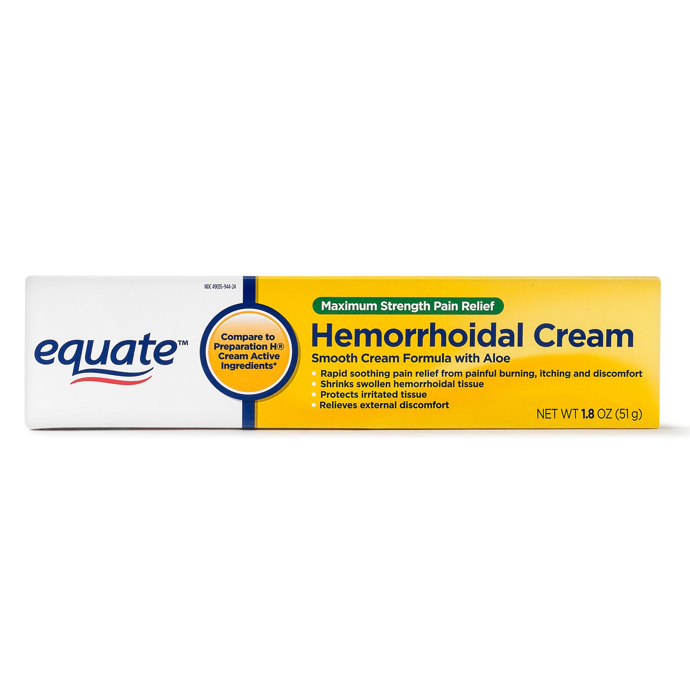 Equate Maximum Strength Hemmorhoidal Pain Relief Cream, 1.8 Oz